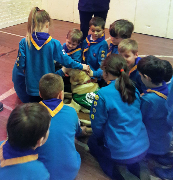 Dogs for good visit Beavers