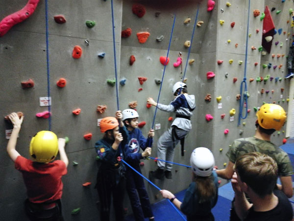 Scouts go climbing